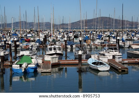 San Francisco bay boat dock.