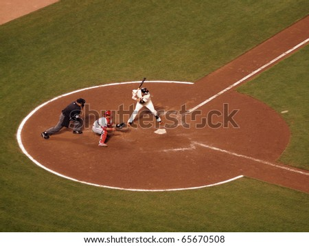SAN FRANCISCO, CA - OCTOBER 20: Giants vs. Phillies: Freddy Sanchez looks at incoming pitch in the  batters box 4 NLCS 2010 October 20, 2010 AT&T Park San Francisco.