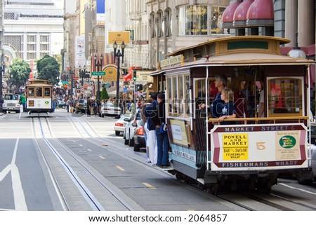 San Francisco cable car at Union Square