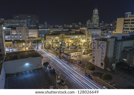 SAN FRANCISCO, CALIFORNIA - JAN 15: View of Market Street tourist area.  San Francisco's 80% hotel occupancy has pushed average room rates above $155 per night on Jan 15, 2013 in San Francisco, Ca.
