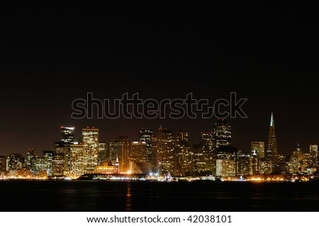San francisco city skyline during night time