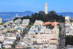 San Francisco city - Telegraph Hill and Coit Tower.