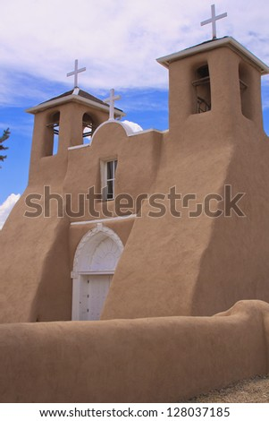 San Francisco de Asis church in Rancho de Taos, NM