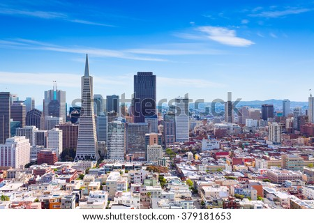 San Francisco downtown general view