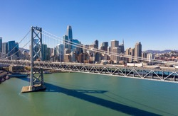 San Francisco downtown skyline buildings bay bridge