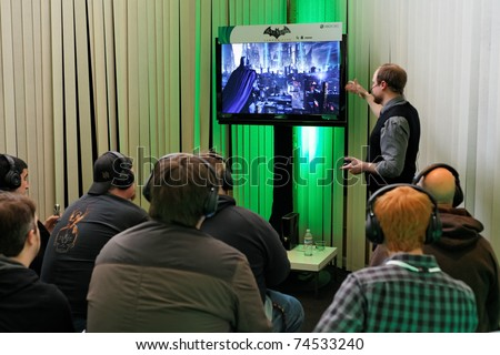 SAN FRANCISCO - FEBRUARY 23: Rocksteady Studios showing Batman: Arkham City to journalists for the first time at a Microsoft Press Event on February 23, 2011 in San Francisco, CA
