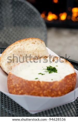 San Francisco Icon - Bread Bowl with Clam Chowder