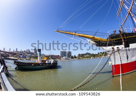 SAN FRANCISCO - JUNE 20: Vintage 1886 sailing ship, Balclutha on public display at San Francisco Maritime National Historical Park on June 20,2012 in San Francisco.