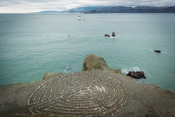 San Francisco land's end labyrinth rock maze