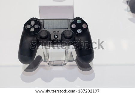 SAN FRANCISCO - MARCH 27: Sony unveiling its new dualshock 4 controller for PlayStation 4 at GDC 2013 event in San Francisco on 27th March 2013
