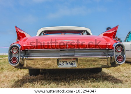 SAN FRANCISCO - MAY 27: A 1960 Cadillac Eldorado Biarritz Convertible is on display during the Golden Gate Bridge 75th Anniversary in San Francisco on May 27, 2012