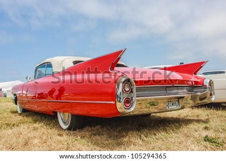 SAN FRANCISCO - MAY 27: A 1960 Cadillac Eldorado Biarritz Convertible is on display during the Golden Gate Bridge 75th Anniversary in San Francisco on May 27, 2012