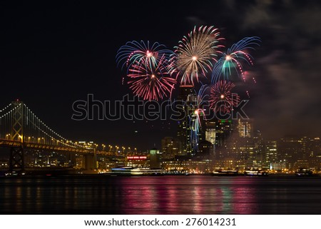 San Francisco New Year Fireworks