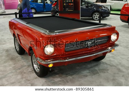 1965 Ford Mustang Pool Table 1 Auto Design Tech