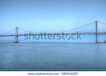 San Francisco - Oakland Bay Bridge is a part of Interstate 80 and the direct road route between San Francisco and Oakland.