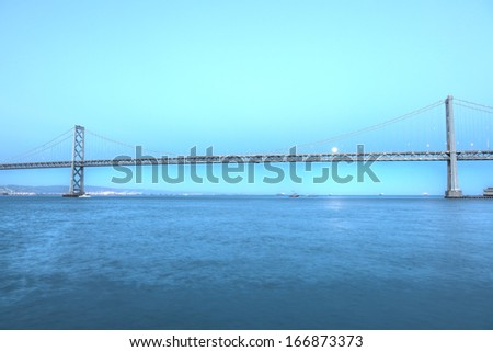 San Francisco�¢?-Oakland Bay Bridge is part of Interstate 80 and the direct road route between San Francisco and Oakland. #166873373