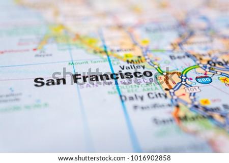 San Francisco on USA map | EZ Canvas