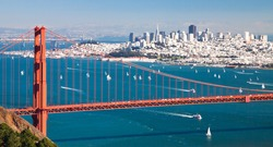 San Francisco Panorama and Golden Gate Bridge