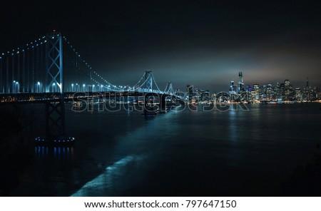 san francisco panorama at night