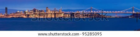 San Francisco panorama at night