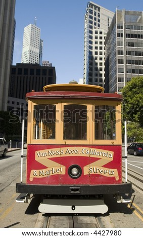 San Francisco's Cable Car on California Street