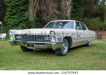 SAN FRANCISCO - SEPTEMBER 29: A 1967 Cadillac Calais is on display during the 2012 Jimmy's Old Car Picnic in Golden Gate Park in San Francisco on September 29, 2012