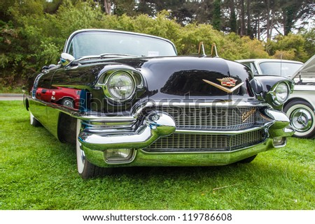 SAN FRANCISCO - SEPTEMBER 29: A 1956 Cadillac Eldorado Convertible is on display during the 2012 Jimmy's Old Car Picnic in Golden Gate Park in San Francisco on September 29, 2012