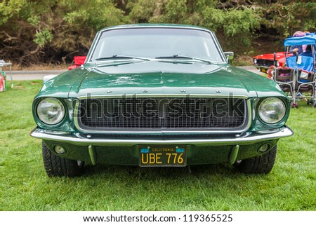 SAN FRANCISCO - SEPTEMBER 29: A 1967 Ford Mustang is on display during the 2012 Jimmy's Old Car Picnic in Golden Gate Park in San Francisco on September 29, 2012