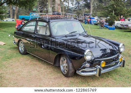 SAN FRANCISCO - SEPTEMBER 29: A 1969 Volkswagen Type 3 Fastback is on display during the 2012 Jimmy's Old Car Picnic in Golden Gate Park in San Francisco on September 29, 2012