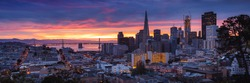 San Francisco Skyline at Sunrise, California, USA