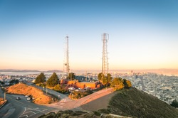 San Francisco skyline from Twin Peaks before Sunset