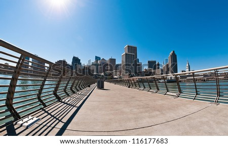 San Francisco skyline  view from Pier 14, California, USA
