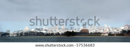 san francisco skyline with a layer of summer fog