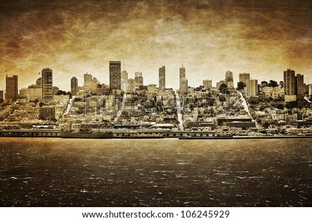 san francisco vintage view from ...