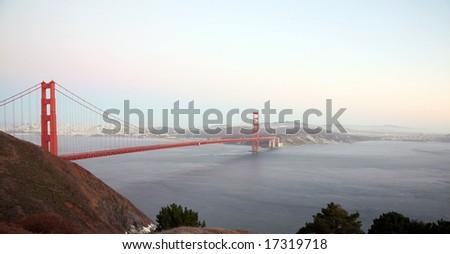 san franscisco and the golden gate bridge at dusk Сток-фото ©