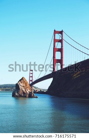 San Fransico pride. The bridge from a different perspective.  Сток-фото ©