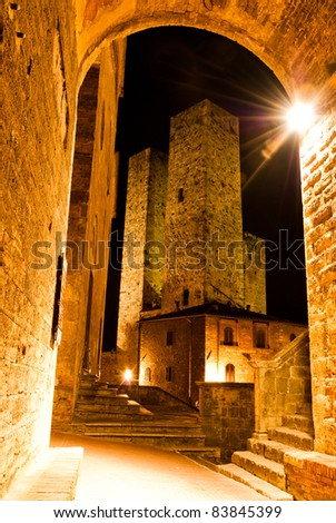 san gimignano is a small walled ...