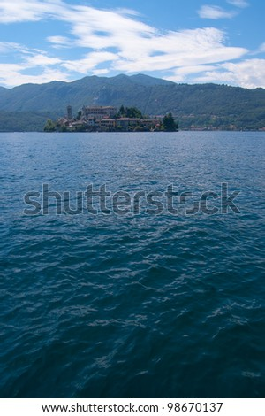 San Giulio Island on Orta Lake in northern Italy.