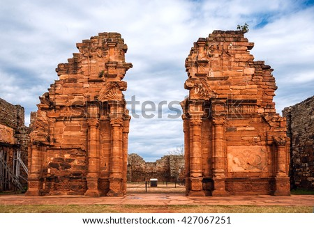 Shutterstock San Ignacio-Mini mission founded in 1632 by the Jesuits, Misiones Province, Argentina