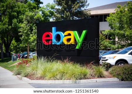 SAN JOSE, CA - MARCH 18: The eBay world… Stock Photo