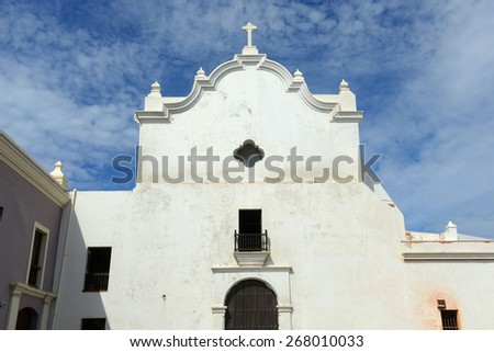 San Jose Church built in 1532 is a Spanish Gothic architecture in Old San Juan Puerto Rico
