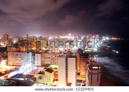 San Juan Puerto Rico at night