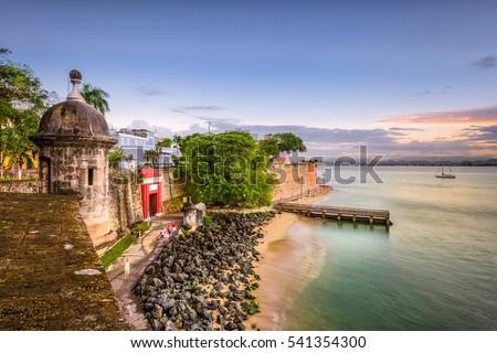 Shutterstock San Juan, Puerto Rico Caribbean coast along Paseo de la Princesa.