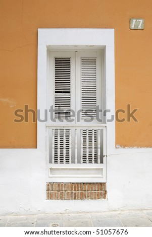 San Juan window on street