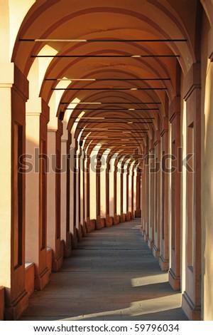 San Luca arcade. Bologna, Italy