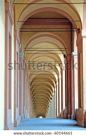 San Luca arcade (the longest in the world). Bologna, Italy.