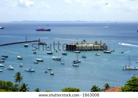 San Marcelo Fortress - Famous tourist point in Salvador - Bahia - Brazil