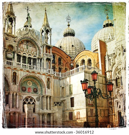 san marco square  artwork in...