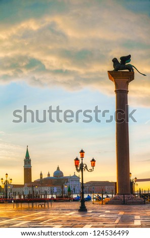 San Marco square in Venice, Italy early in the morning