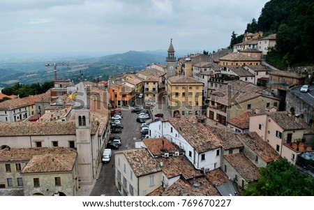 San Marino City View Foto stock ©